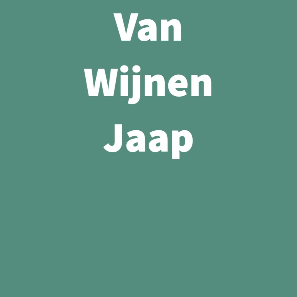 Van Wijnen Jaap